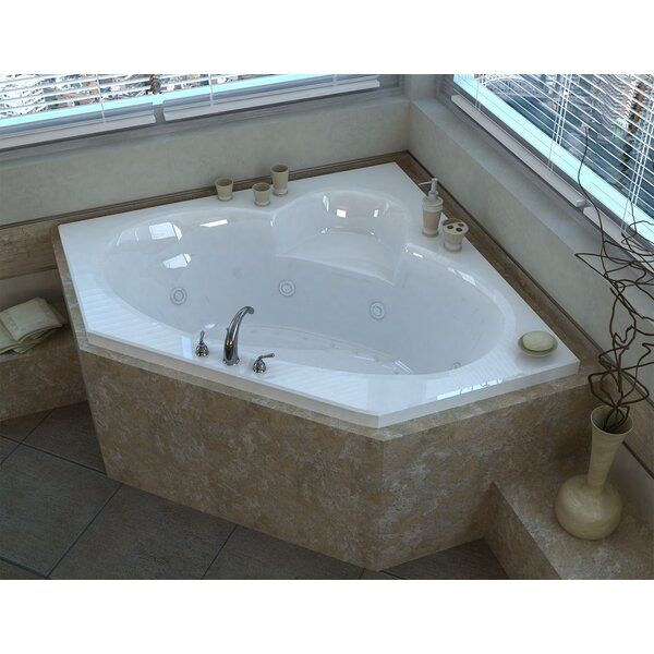 Curacao 58 x 58 Corner Air & Whirlpool Jetted Bathtub with Center Drain by Spa Escapes