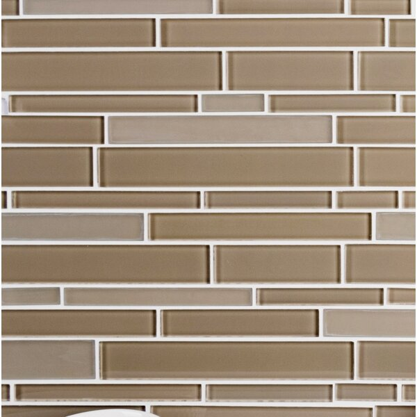 Premium Series Random Sized Glass Mosaic Tile in Beige by WS Tiles