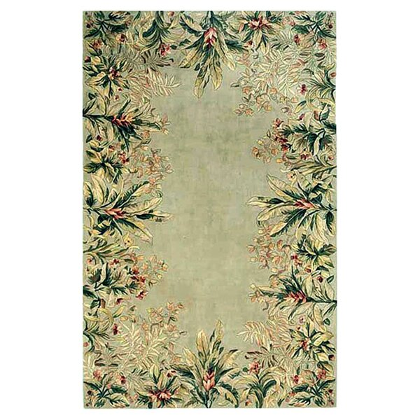 Marion Sage Tropical Border Area Rug by Bay Isle Home