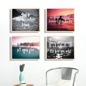 'Explore II' 4 Piece Graphic Art Set by Kindred Sol Collective