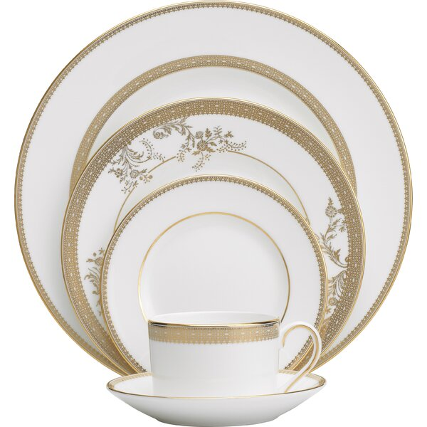 Vera Lace 5 Piece Place Setting, Service for 1 by Vera Wang