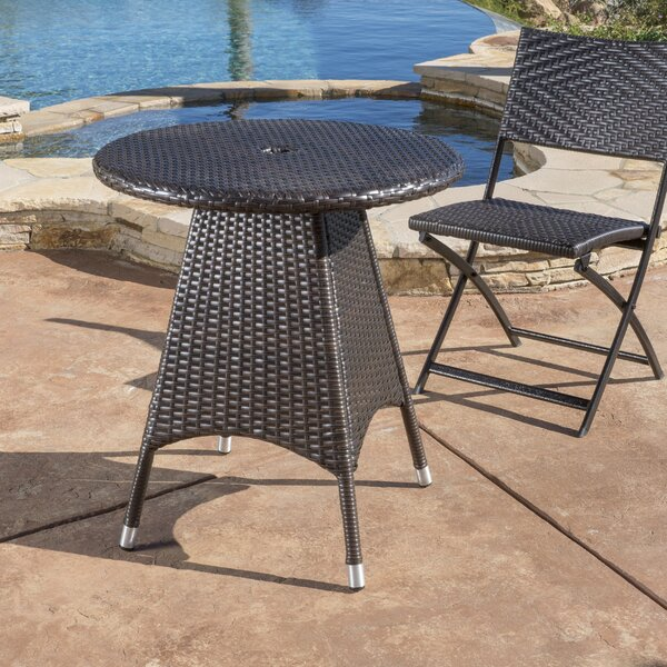 Brissette Outdoor Wicker Bistro Table by Orren Ellis