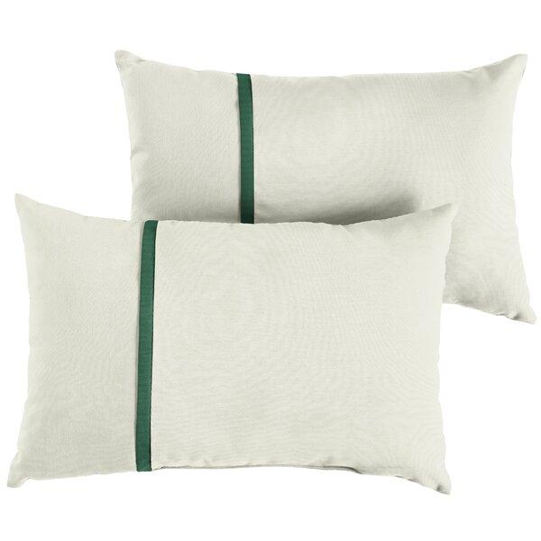 Forbis Indoor/Outdoor Sunbrella Lumbar Pillow (Set of 2) by Charlton Home