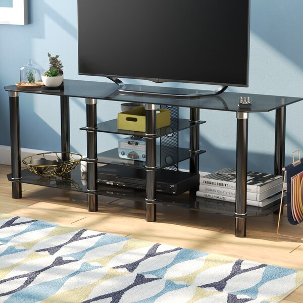 Nyle Glass 60 TV Stand by Ebern Designs