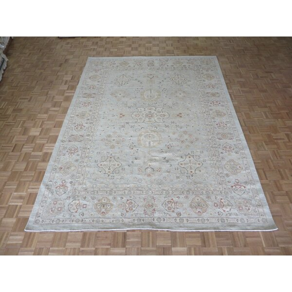 One-of-a-Kind Railsback Oushak Hand-Knotted Rayon from Bamboo Sky Blue Area Rug by Astoria Grand