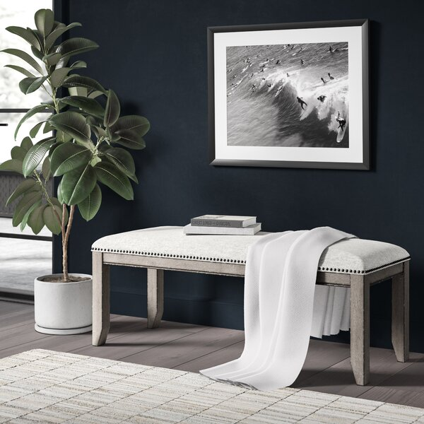 Devers Upholstered Bench by Greyleigh