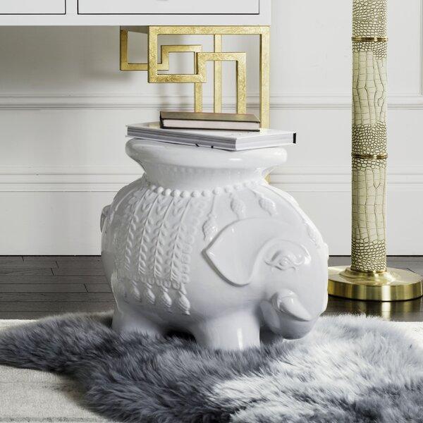 Haysi Ceramic Garden Stool By Bungalow Rose