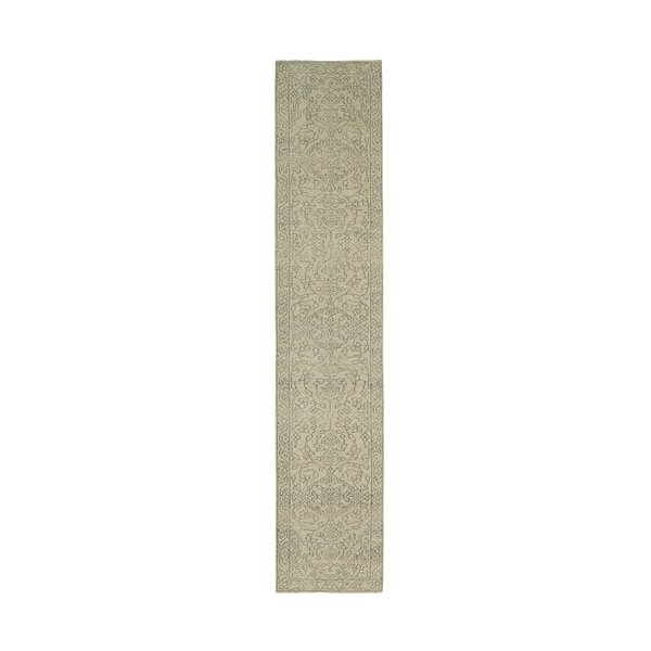 Romeo Hand-Knotted Wool Gray/Ivory Area Rug by Charlton Home
