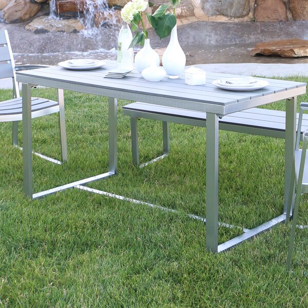 Salvatore Grey Patio Table by Wade Logan