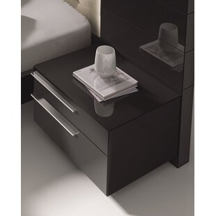 Callery Contemporary 2 Drawer Nightstand by Wade Logan