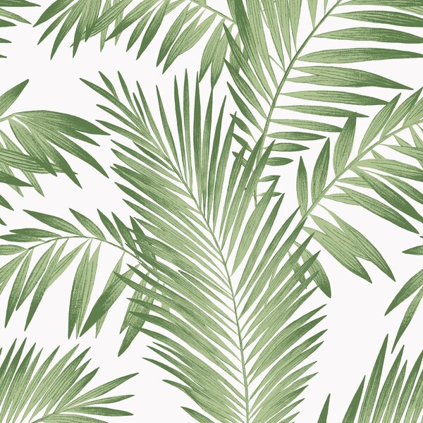 Kansas Tropical Palm 33 L x 20.5 W Wallpaper Panel by Bay Isle Home