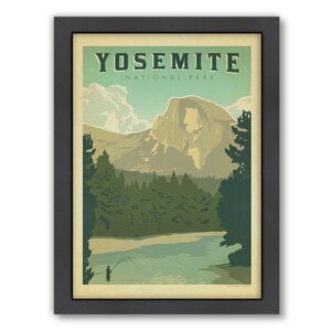 National Park Yosemite Framed Vintage Advertisement by East Urban Home