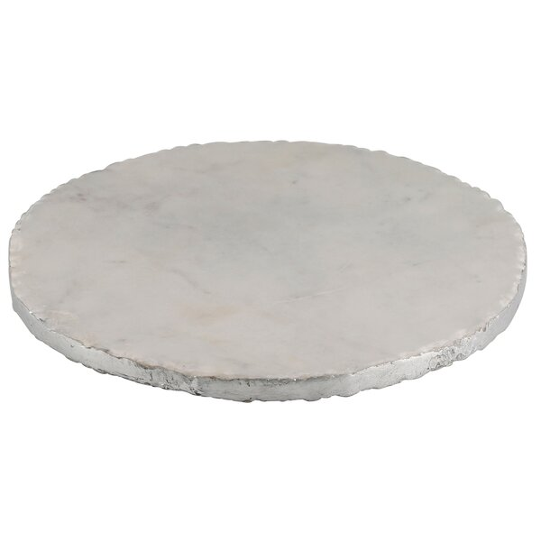 Old Hollywood Round Marble Serving Tray by Thirstystone