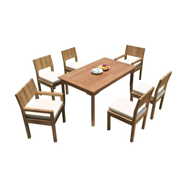 Genebern 7 Piece Teak Dining Set by Rosecliff Heights