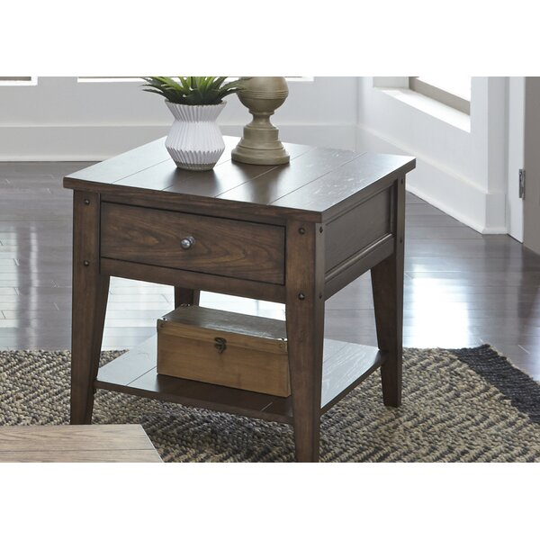 Kalene End Table With Storage By Loon Peak