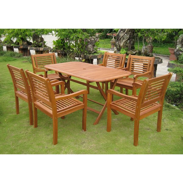 Sabbattus Girona 7 Piece Dining Set by Breakwater Bay