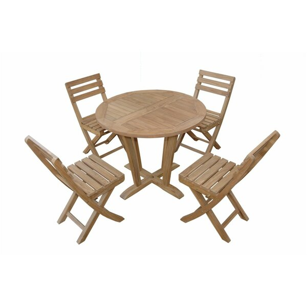 Descanso Alabama 5 Piece Teak Dining Set with Sunbrella Cushions by Anderson Teak