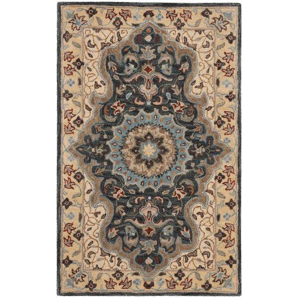 Kuhlman Hand-Woven Wool Cream/Black Area Rug by Astoria Grand