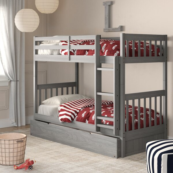 Benedetto Twin Bunk Bed With Trundle By Birch Lane™ Heritage by Birch Lane™ Heritage 2020 Sale