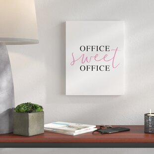 Merveilleux U0027Office Sweet Officeu0027 Textual Art