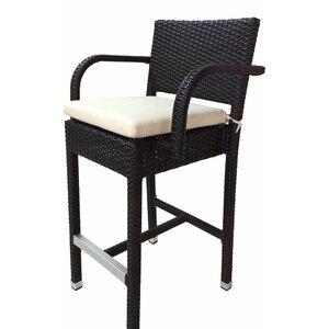 SunFlower 30″ Patio Bar Stool with Cushion (Set of 2)