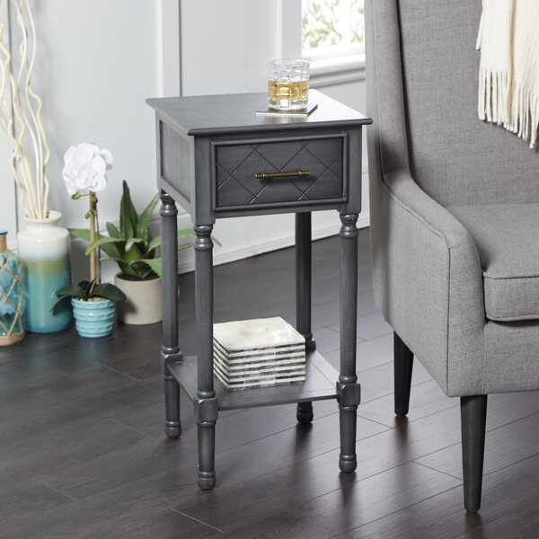 Devante Square Accent Table With Shelf By Longshore Tides
