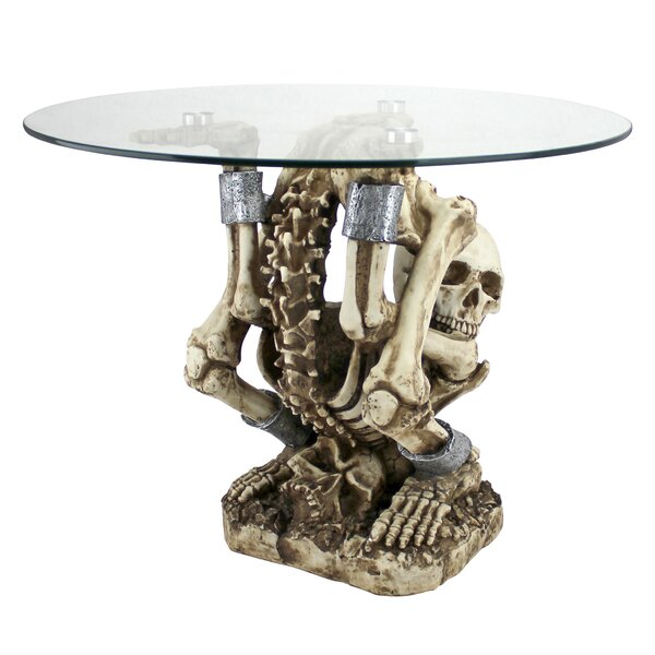 The Contortionist Skeleton End Table By Design Toscano