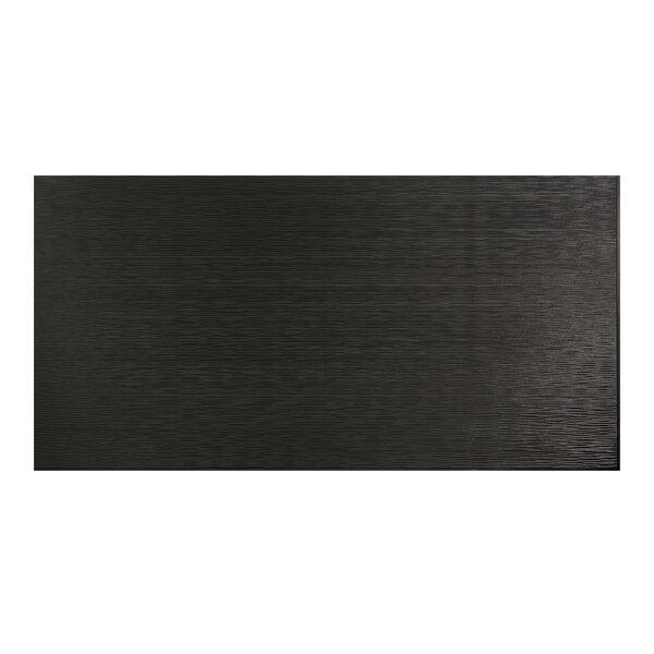 Ripple Horizontal 48 x 96 PVC Backsplash Panel in Black by Fasade
