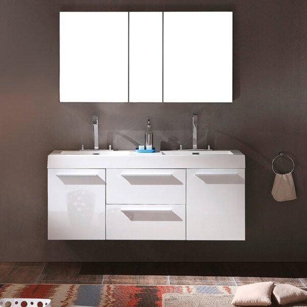Senza Opulento 54 Double Bathroom Vanity Set with Mirror