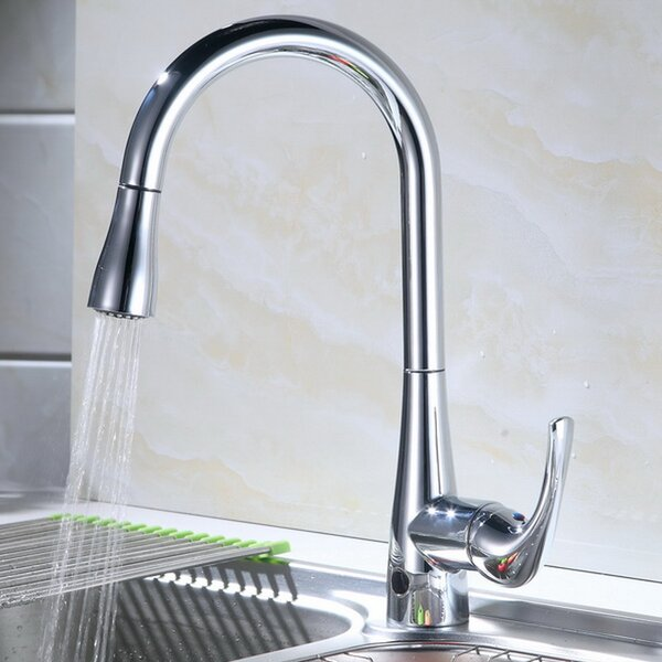 Pull Down Touchless Single Handle Kitchen Faucet by RunFine Group