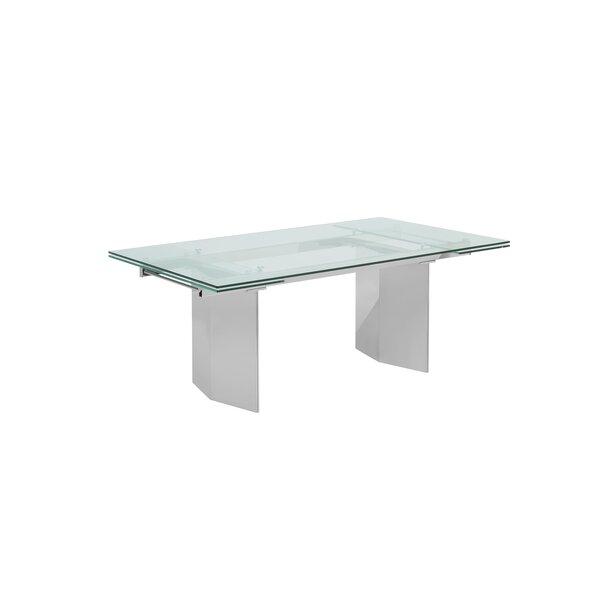 Gunnels Stainless Steel Extendable Dining Table by Orren Ellis