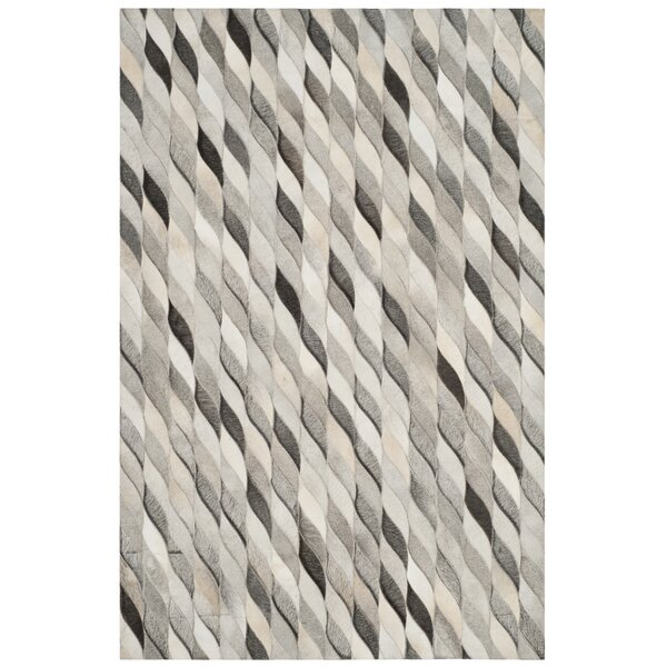Patricio Leather Hand Tufted Ivory Area Rug by 17 Stories