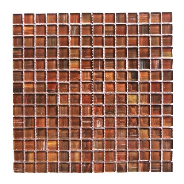 Handicraft II 0.75 x 0.75 Glass Mosaic Tile in Dark Brown by Abolos