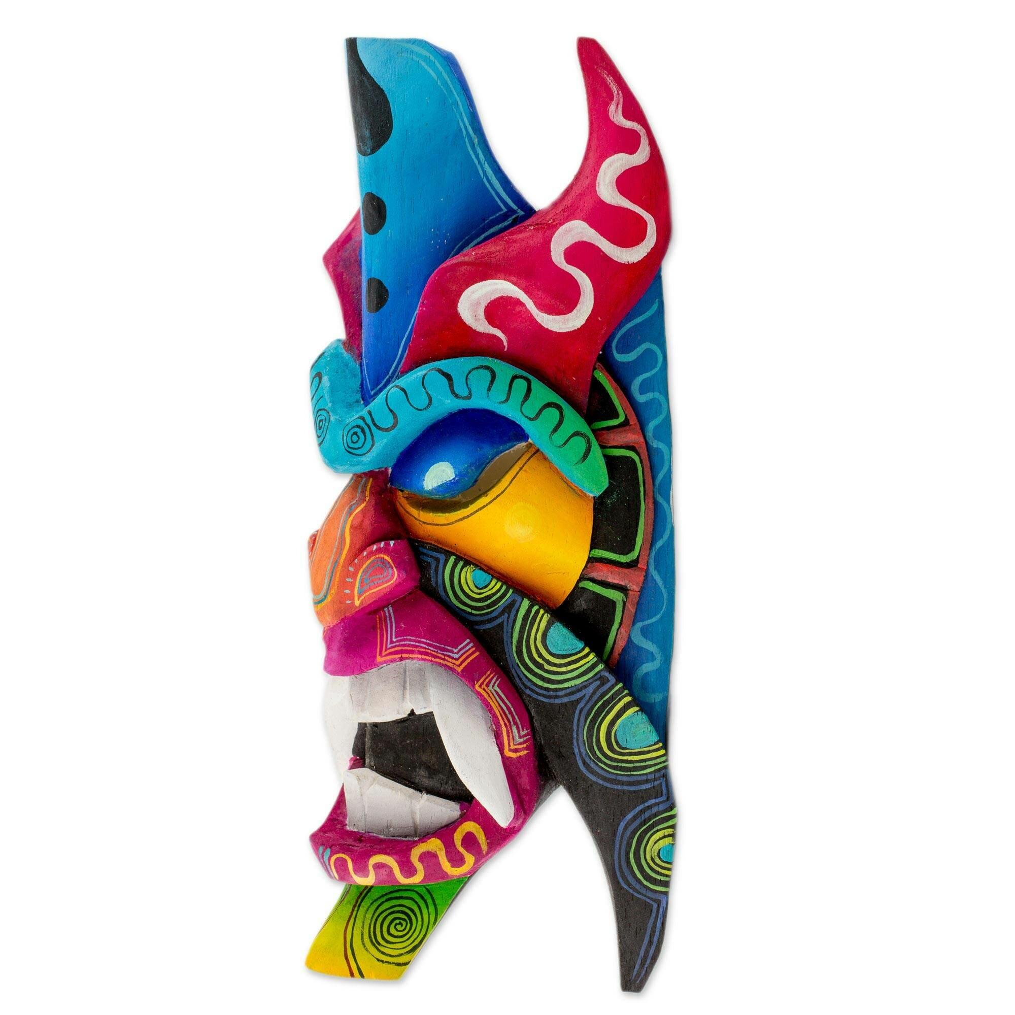 World Menagerie Boruca Defender Wood Mask Wall Décor Wayfair