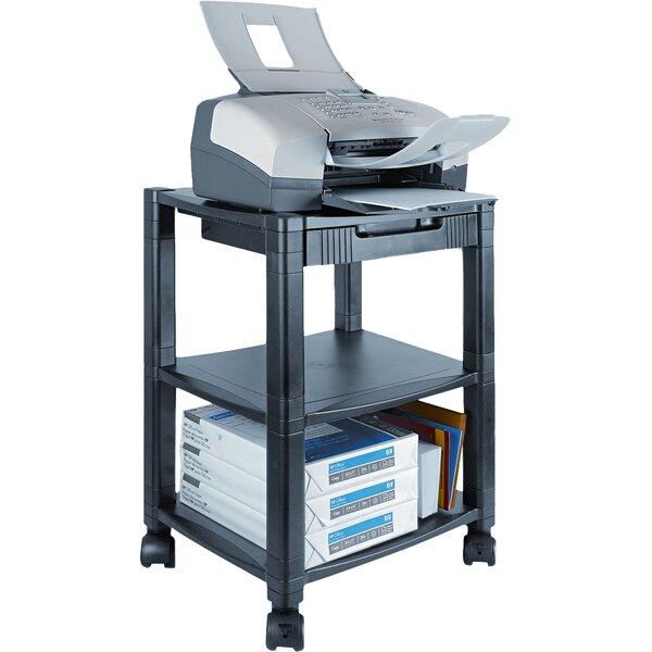 Three-Shelf Mobile Printer Stand by Kantek