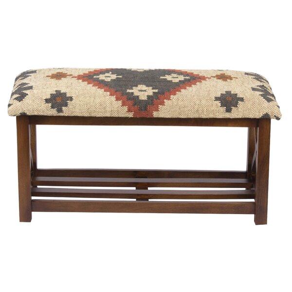 Guarani Solid Wood Shelves Storage Bench