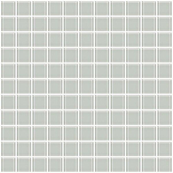 1 x 1 Glass Mosaic Tile in White by Susan Jablon