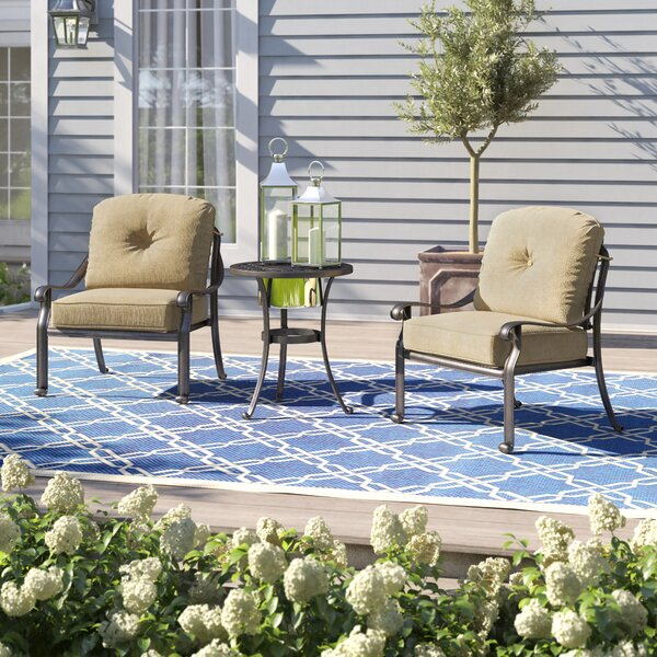 Lebanon 3 Piece Person Seating Group with Cushions by Three Posts