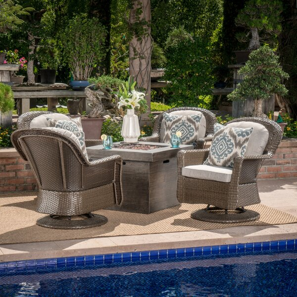 Rossville 5 Piece Rattan Seating Group with Cushions by Darby Home Co