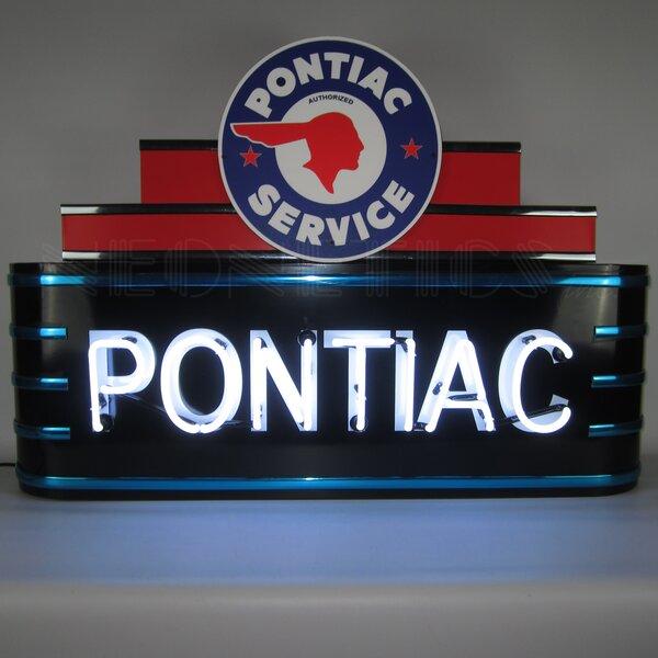 Art Deco Marquee Pontiac Neon Sign by Neonetics