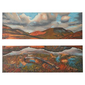 2 Piece Painted Desert Painting Print on Wrapped Canvas Set by Loon Peak