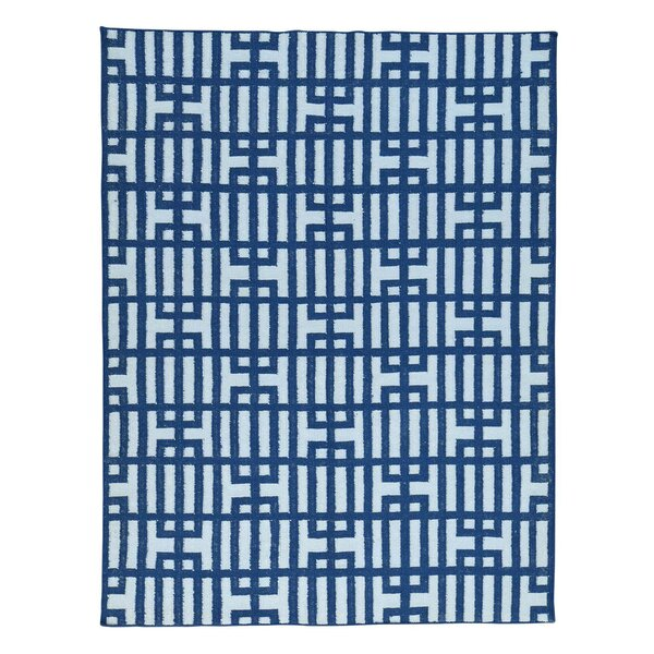 Flat Weave Geometric Reversible Kilim Hand-Knotted Ivory Area Rug by Ivy Bronx
