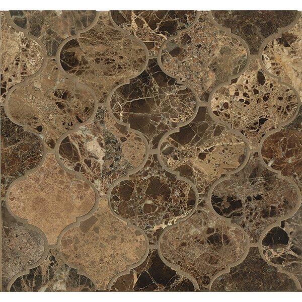 Marble Mosaic Tile in Emperador Dark by Grayson Martin