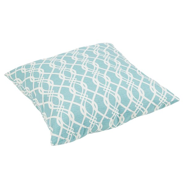 Brookwood Wavy Outdoor Floor Pillow by Rosecliff Heights