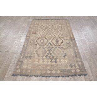 One-of-a-Kind Turkish Persian Handwoven Flatweave 4' x 6'2 Wool Gray Geometric Area Rug by Rugsource