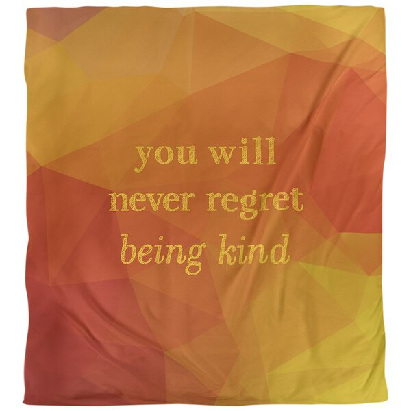 Be Kind Quote Single Duvet Cover