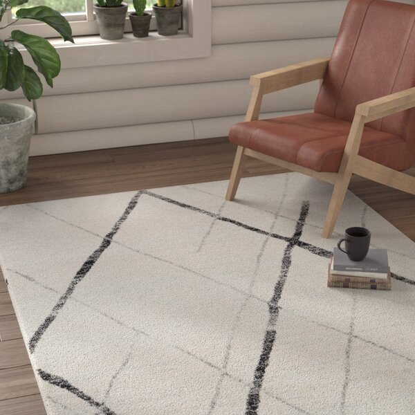 Kreutzer Distressed Charcoal/Light Gray Area Rug by Union Rustic