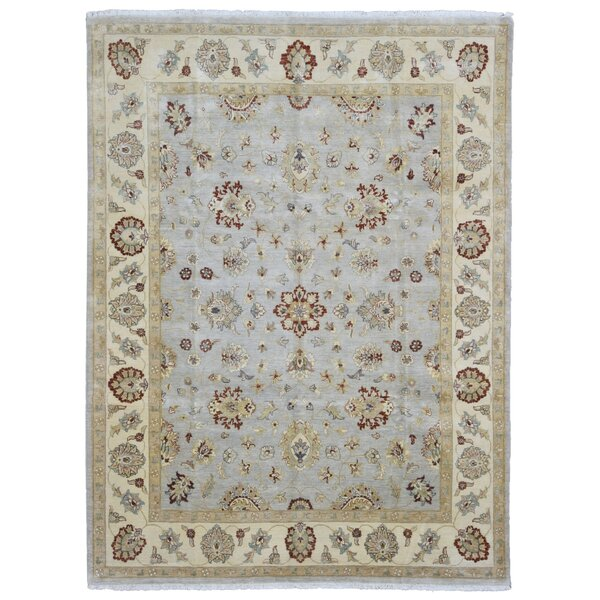 One-of-a-Kind Baron Oriental Hand Woven Wool Blue/Beige Area Rug by Isabelline