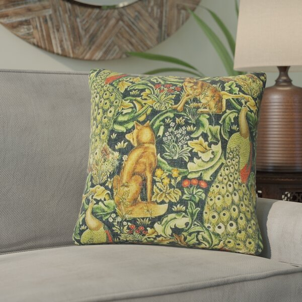 Dimick Bunny Throw Pillow by Bungalow Rose