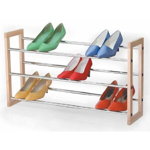 Best 3 Tier Chrome Expandable Shoe Rack By Richards Homewares